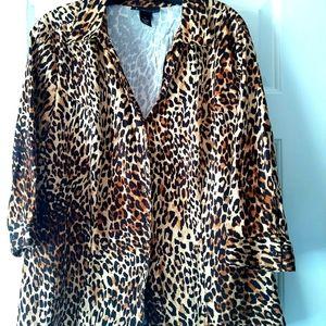 Lane Bryant Size Leopard Print Blouse
